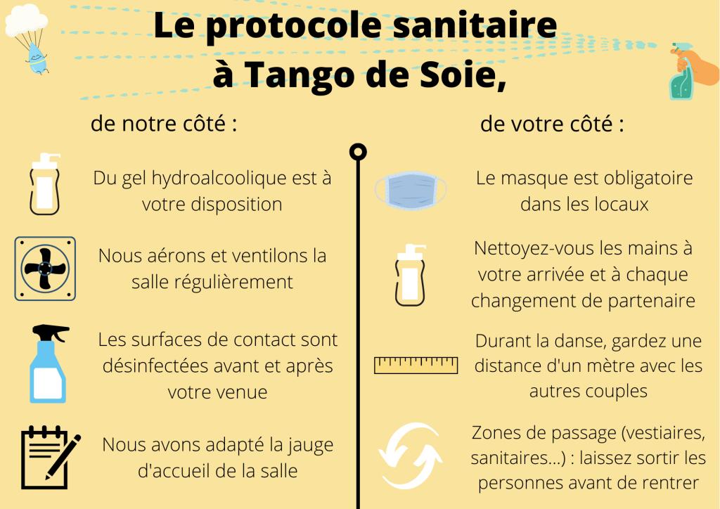 Les consignes à respecter à Tango de Soie